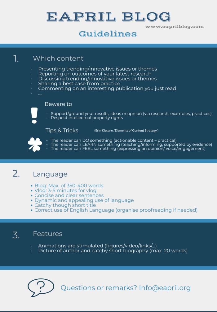 EAPRIL Blog_Guidelines